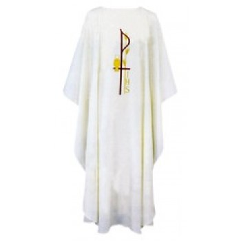 Chi Rho Wheat and Chalice Chasuble