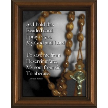 Beads Poem Framed