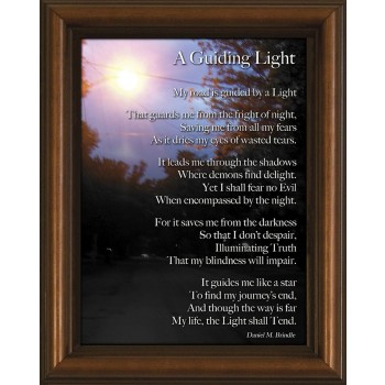 Guiding Light Poem Framed