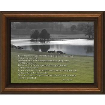 Lord of the Heavens Poem Framed