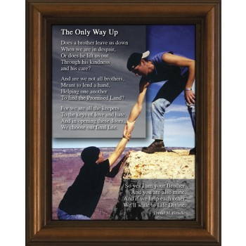 Brotherhood Poem Framed