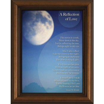Reflection of Love Poem Framed