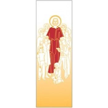 Jesus with the Children Printed Banner