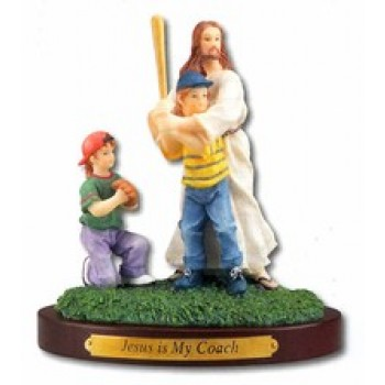 Jesus is My Coach Figurine