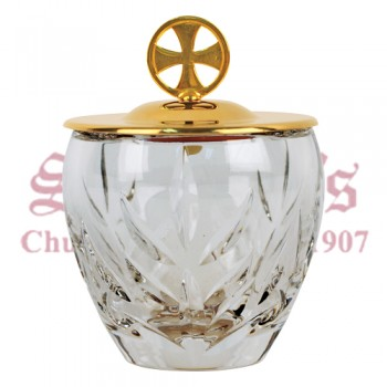 Crystal Ablution Cup with Gold Plated Cover