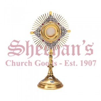 Filigree Monstrance with Silver Medallions