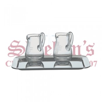 Engraved Crystal Cruet Set