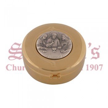 Hospital Pyx with Oxidize Silver Medallion of the Last Supper