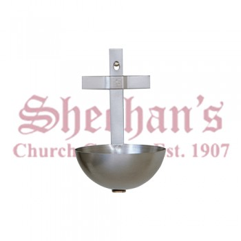 Holy Water Font with Cross