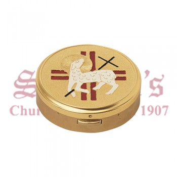 Hospital Pyx with Lamb and Cross Design on the Cover