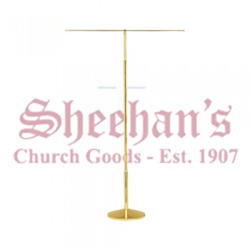 Processional Solid Brass Banner Stand