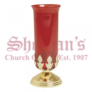 "Votive Stand with 5"" Brass Base"