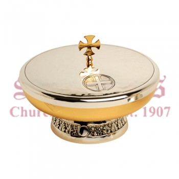 Gold Plated Bowl Paten with Bright Silver Finish