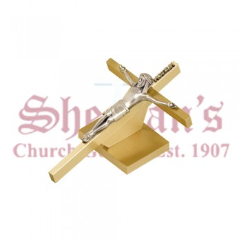 Solid Brass Reclining Crucifix