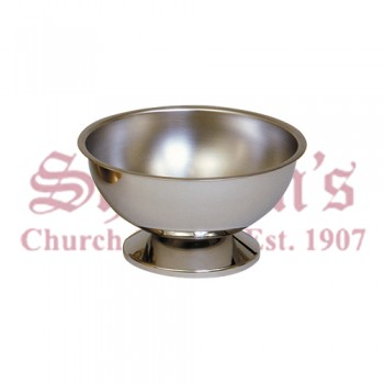 Stainless Steel Baptismal Bowl with Base
