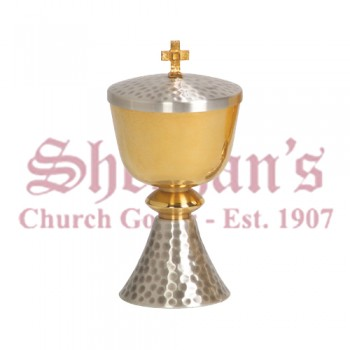 Ciborium with Silver Plated Base
