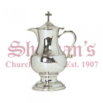 Pewter Flagon with Engraved Grape Design