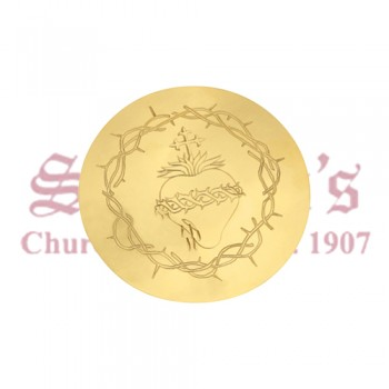 Scale Paten with Engraved Sacred Heart Emblem