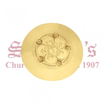 Scale Paten with Engraved Ave Maria Emblem