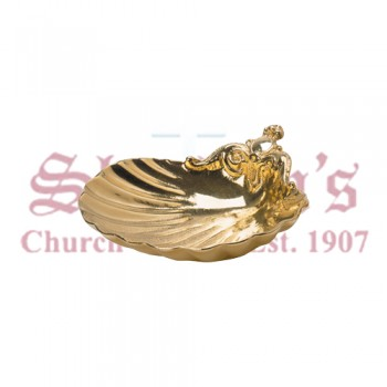 Cast Bronze Baptismal Shell