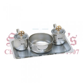 All Stainless Steel Cruet Set