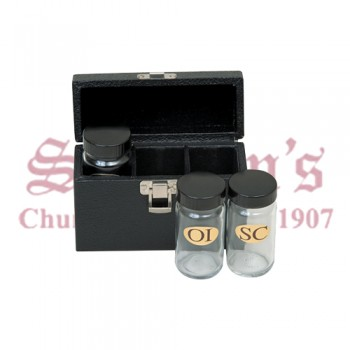 Sacristy Oil Set with Glass Containers