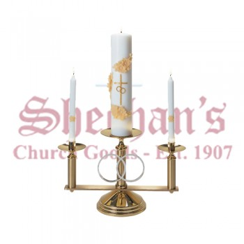 Wedding Candelabra with Silver Plated Rings