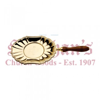 "Communion Paten with Engraved ""IHS"""