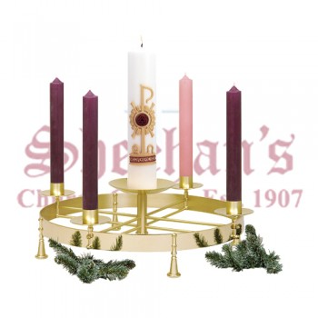 Solid Brass in Two Tone Finish Advent Wreath