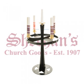 Advent Wreath with Satin Brass Accents