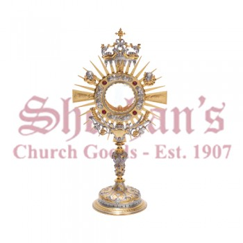 Two-Tone Silver and Gold Monstrance
