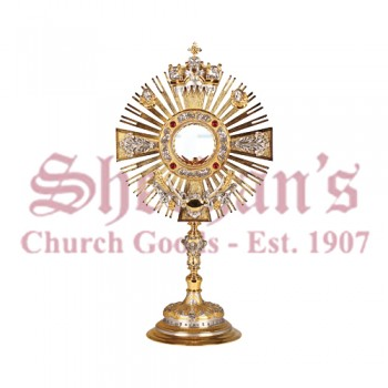 Monstrance with Silver and Gold Plated Finish