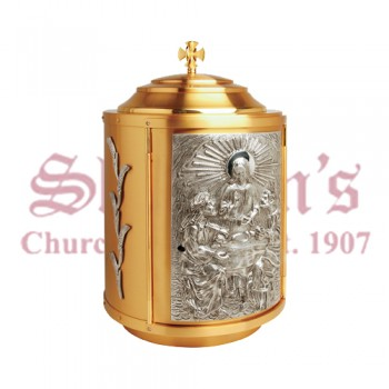 Tabernacle with Gold and Silver Plated Accents