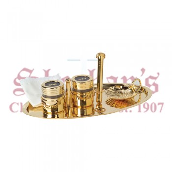 24k Gold Plated Baptismal Set
