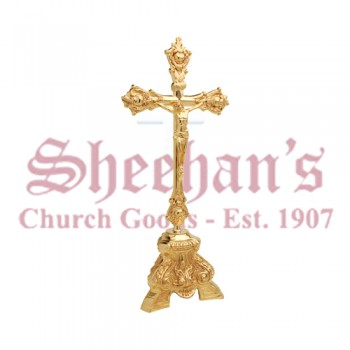 Gold Plated Altar Crucifix
