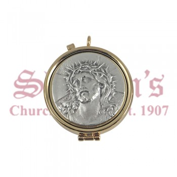 Pyx with Christ Motif