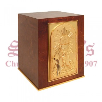 Tabernacle with Wood and 24k Gold Plate Finish