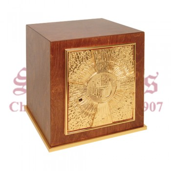Wood Tabernacle with 24k Gold Plate Door