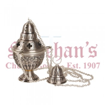 Censer and Boat in Oxidized Silver