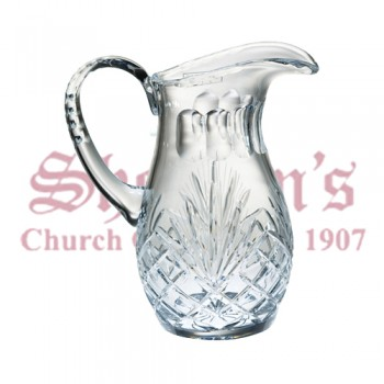 Crystal Flagon with Etched Wheat Design