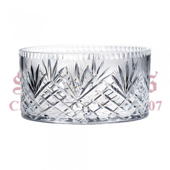 Crystal Bowl with Etched Wheat Design
