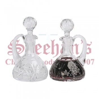 Crystal Cruets with Grape and Pinwheel Design