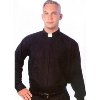 Tab Collar Long Sleeve Clergy Shirt