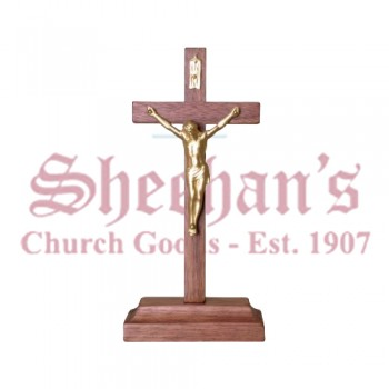 Elegant Standing Crucifixes with Gold Sprayed Corpus