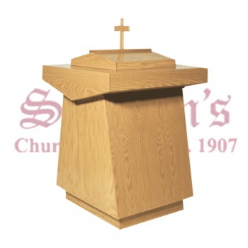 Contemporary Baptismal Font with Cross