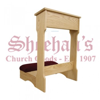 Prie Dieu with Shelf