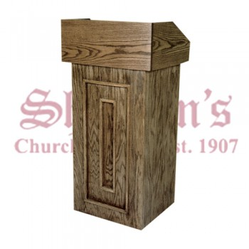 Lectern with Raised Wood Design