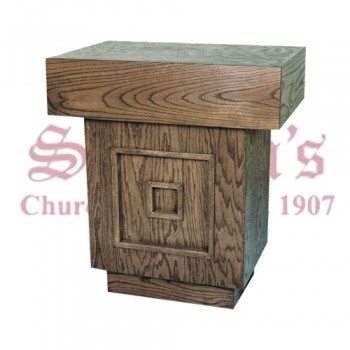 Wood Credence Table with Raised Design