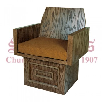 Wooden Celebrant's Chair with Raised Design