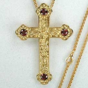 Jeweled Pectoral Cross and Chain